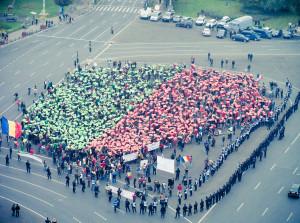 Aktion vor dem Regierungssitz. Foto: daniel@vrabioiu.ro