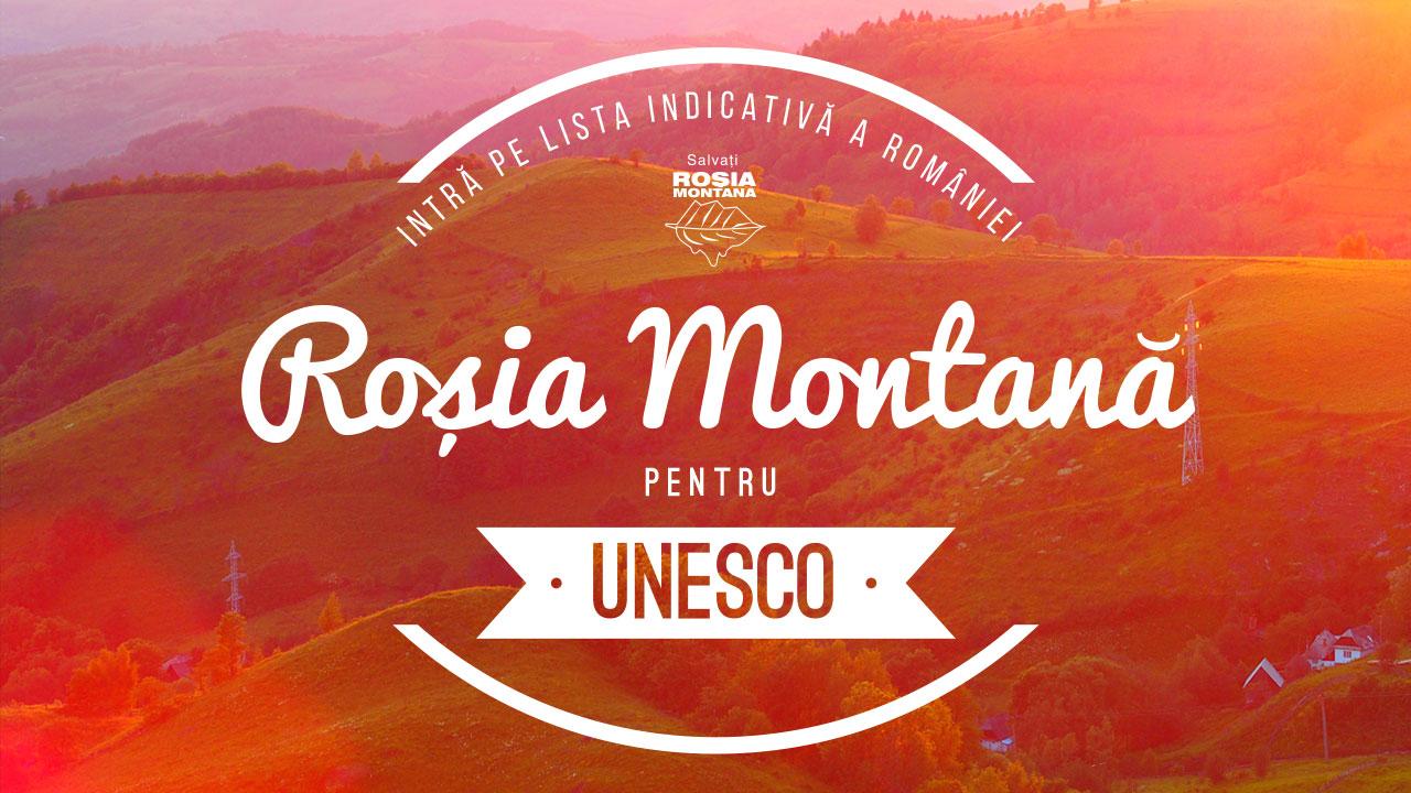 Roșia Montană kommt 2016 auf die vorläufige Liste Rumäniens für die UNESCO... und 2018 zieht die Regierung Dancila den Antrag wieder zurück...